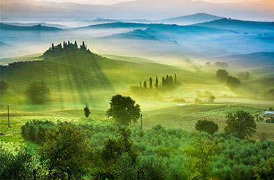 Green fields of Italy