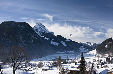 Snowy Mountains of Gstaad